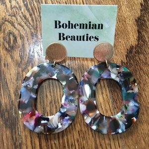 Jewelry - Multicolor Acrylic Earrings